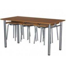 Стол обеденный с подвесами для табуретов купить в томске