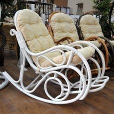 Кресло-качалка с подножкой 05-11 White