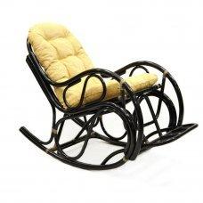 Кресло-качалка с подножкой Браун