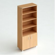 Шкаф книжный (двери снизу, Карат)